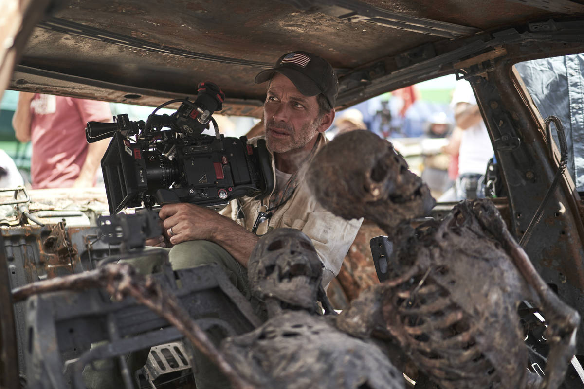 """Director and co-writer Zack Snyder films a scene from """"Army of the Dead."""" (Clay Enos/Netflix)"""