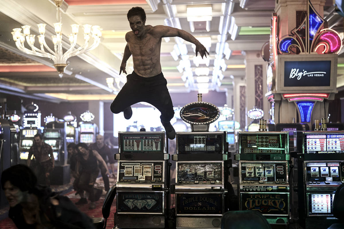 """Zombies have taken over Las Vegas, including what's left of its casinos, in """"Army of the Dead."""" ..."""