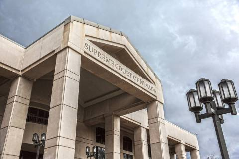 The exterior of the Supreme Court of Nevada in Carson City is seen in this Feb. 9, 2017, file p ...