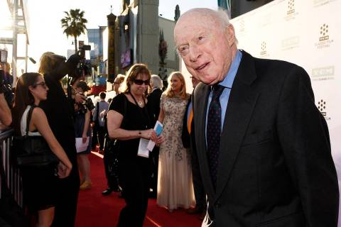 "FILE - Norman Lloyd poses before a 50th anniversary screening of the film ""The Sound of Mu ..."