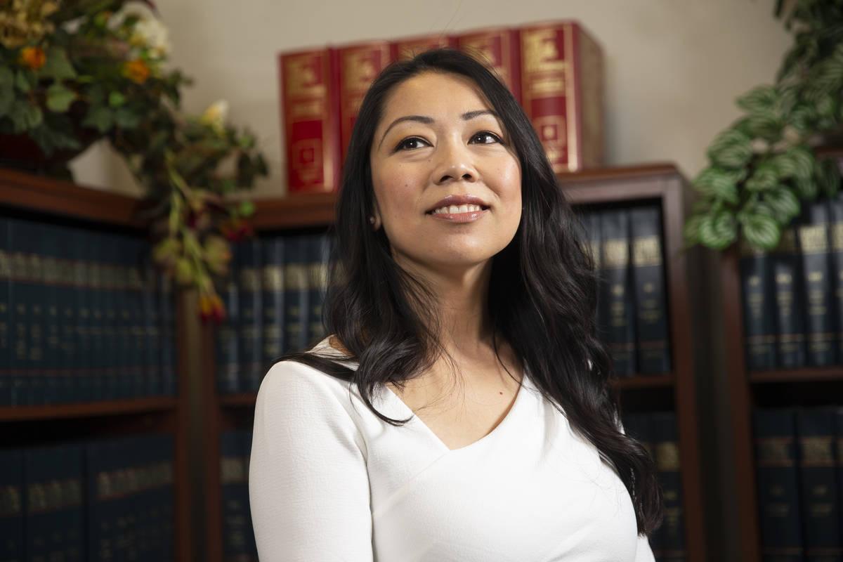 City of North Las Vegas Attorney Micaela Moore poses for a portrait at North Las Vegas City Hal ...