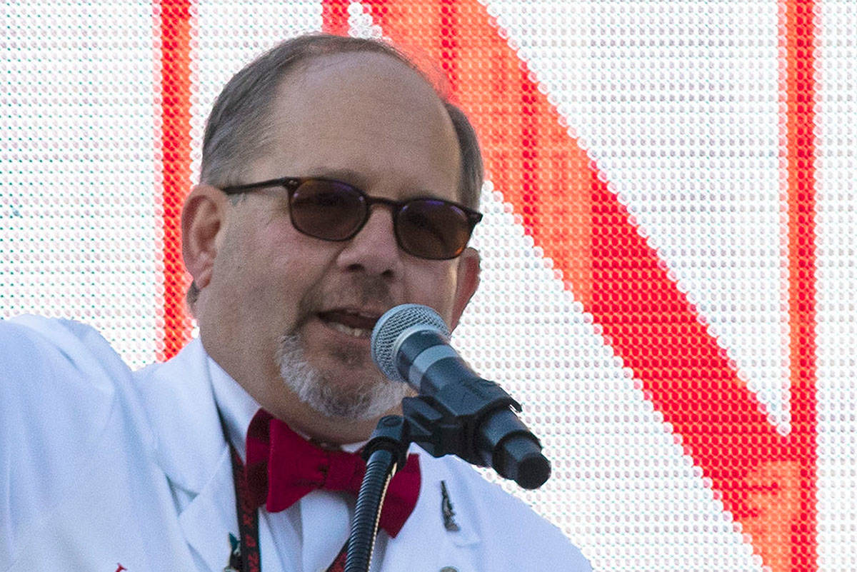 Dr. Marc J. Kahn, dean of the UNLV School of Medicine, speaks during the national Match Day at ...