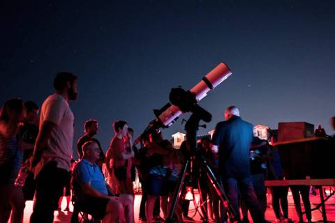 Las Vegas Astronomical Society and Skye Canyon will hold the annual Skye & Stars stargazing ev ...