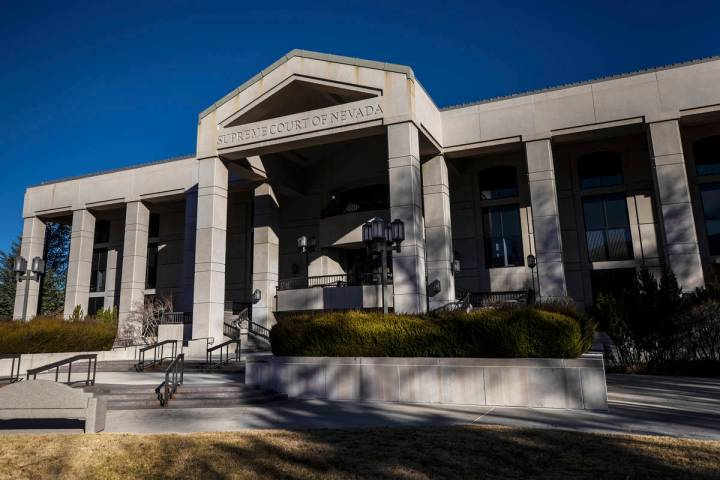 The Supreme Court of Nevada at the state Capitol complex on Sunday, Jan. 17, 2021, in Carson Ci ...