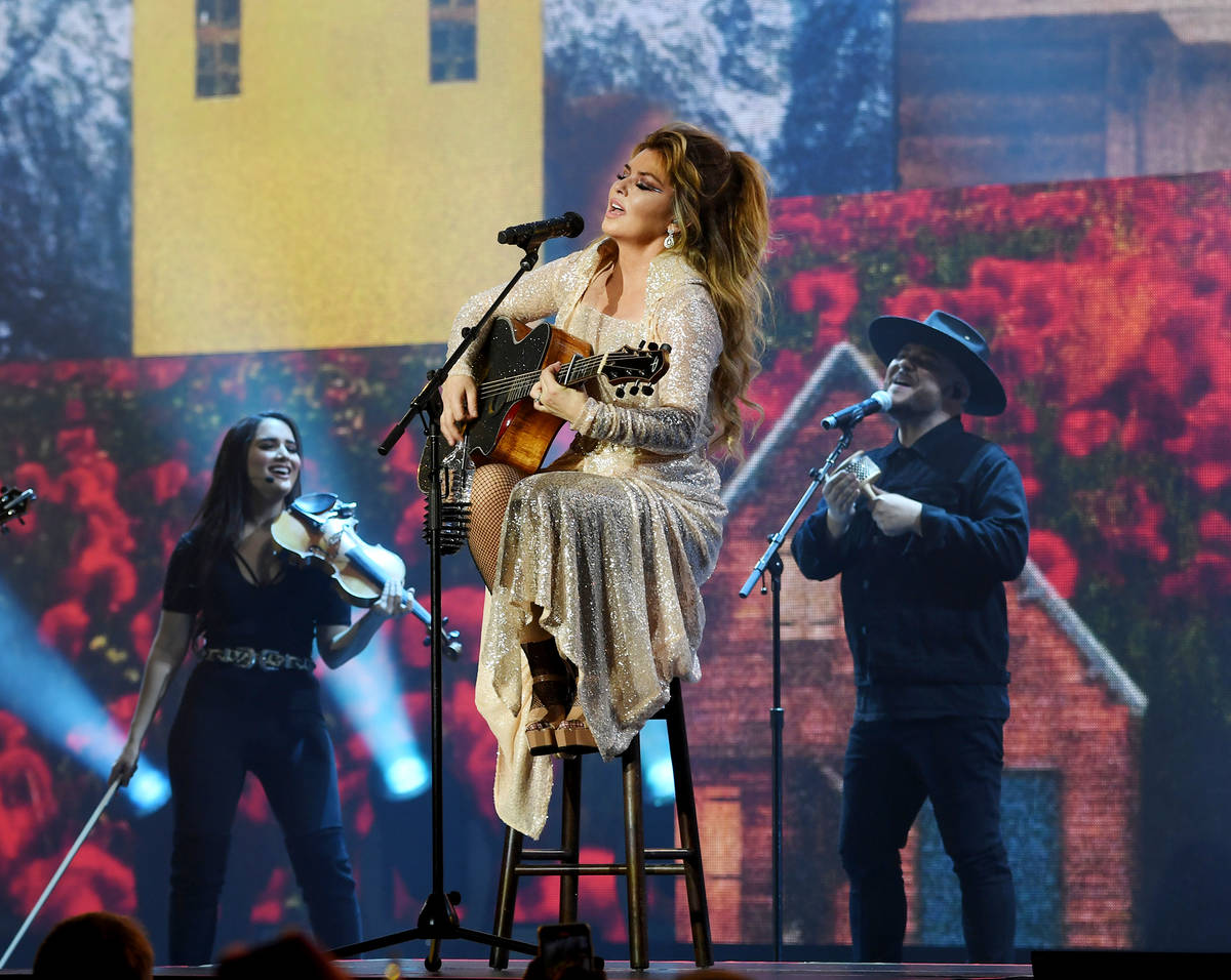 """Shania Twain performs on opening night of her """"Let's Go"""" residency at Zappos Theater at Planet ..."""