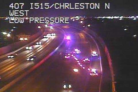 U.S. 95 is closed near East Charleston Boulevard for a fatal crash investigation on Saturday, M ...