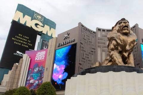 The MGM Grand on the Las Vegas Strip. (Ellen Schmidt/Las Vegas Review-Journal)