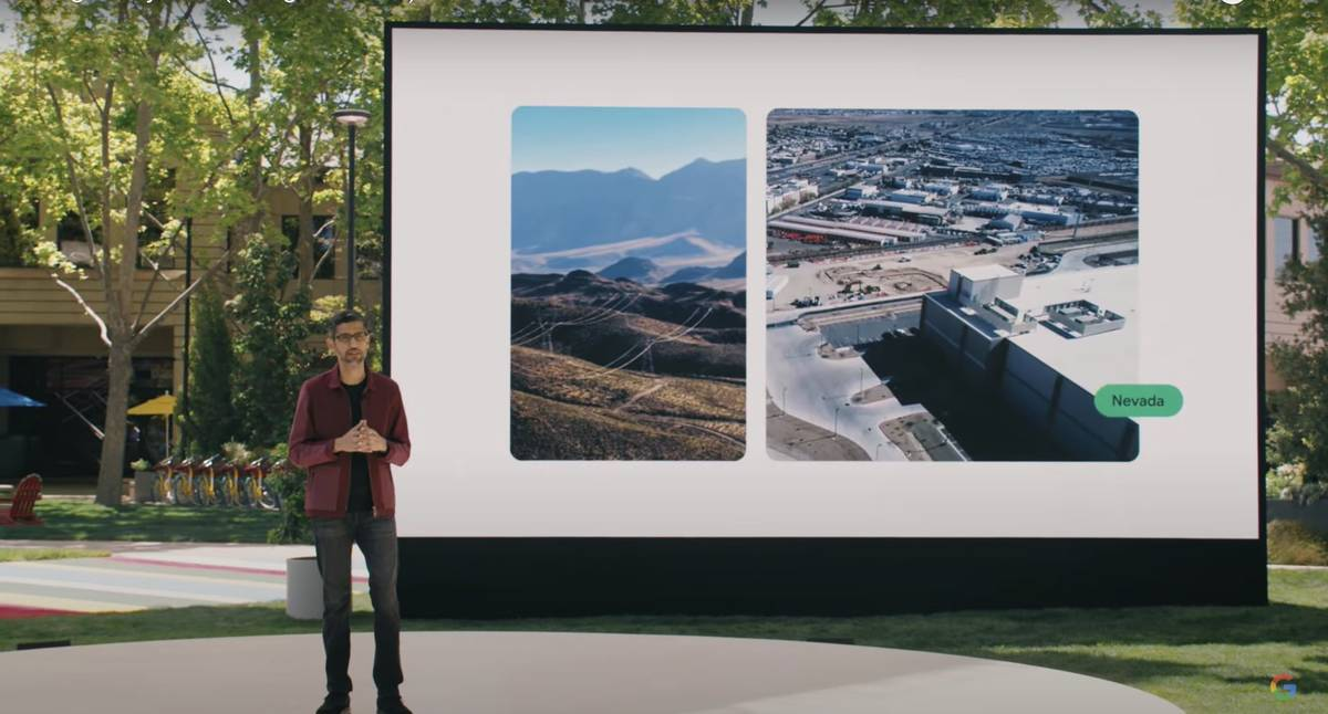 Google CEO Sundar Pichai announced May 18, 2021, that the company will develop a geothermal pow ...