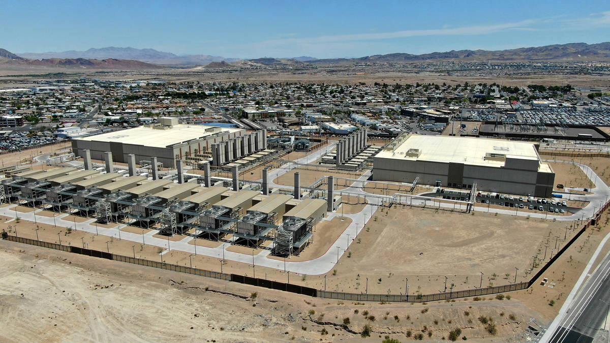 Aerial view of the Google Data Center in Henderson, Nevada on Tuesday, May 18, 2021. (Michael Q ...