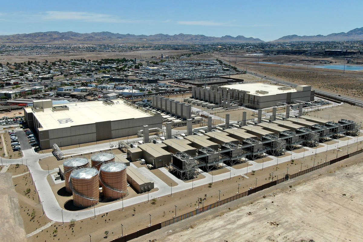 Aerial view of the Google Data Center in Henderson on Tuesday, May 18, 2021. (Michael Quine/Las ...