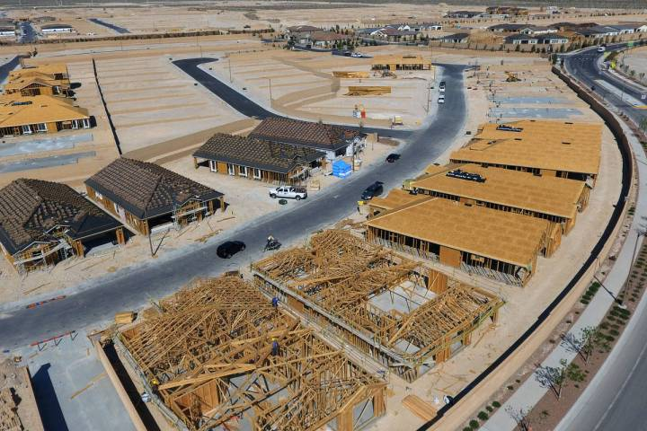 Construction continues on a new housing community at Skye Canyon. Despite higher home prices an ...