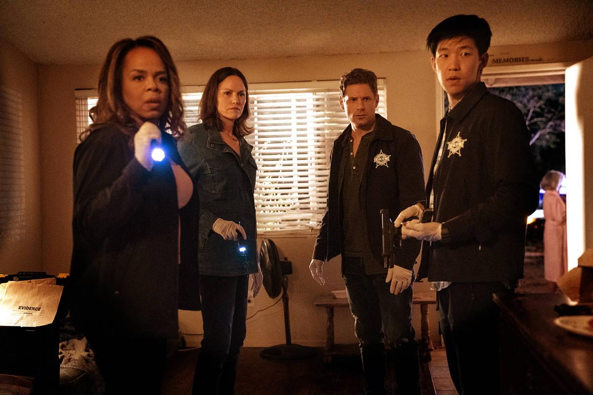 "From left, Paula Newsome, Jorja Fox, Matt Lauria and Jay Lee star in ""CSI: Vegas."" (Sonja Flemm ..."