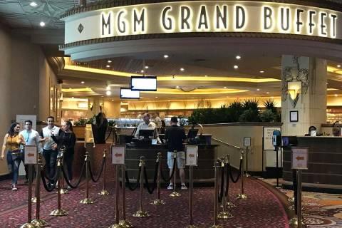 The MGM Grand Buffet in Las Vegas reopens on May 26. (Ellen Schmidt/Las Vegas Review-Journal)