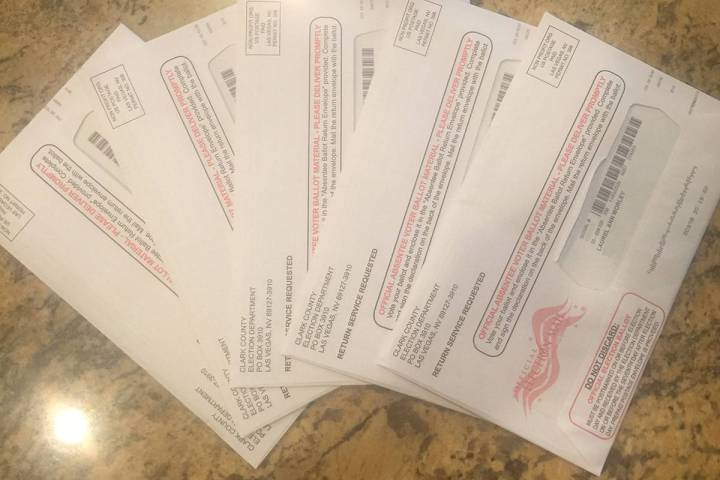 These are the five ballots received by Laurel Morley, who says she only should have received tw ...