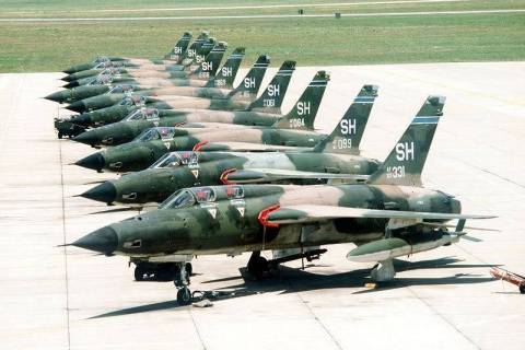 The F-105 Thunderchief, which the Thunderbirds flew for just six shows in 1964. (507th Fighter ...