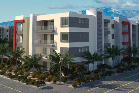 Developer Bob Schulman plans to build a 232-unit apartment complex, a rendering of which is see ...