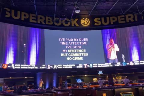 """Tony Award winner Alfie Boe sings """"We Are The Champions"""" at Westgate SuperBook's Super Karaoke ..."""
