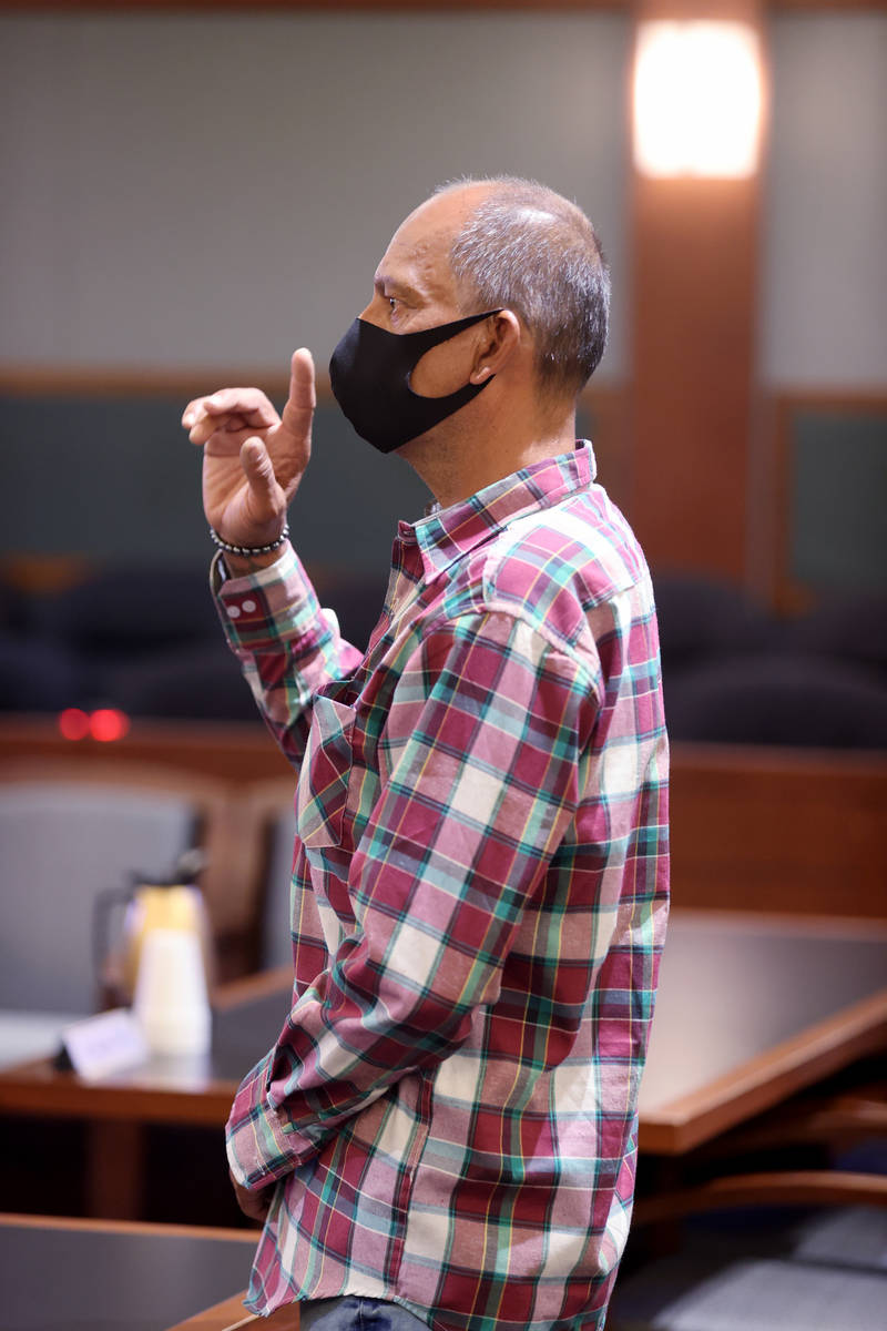 Mauricio Milla appears in court for sentencing a the Regional Justice Center in Las Vegas Tuesd ...