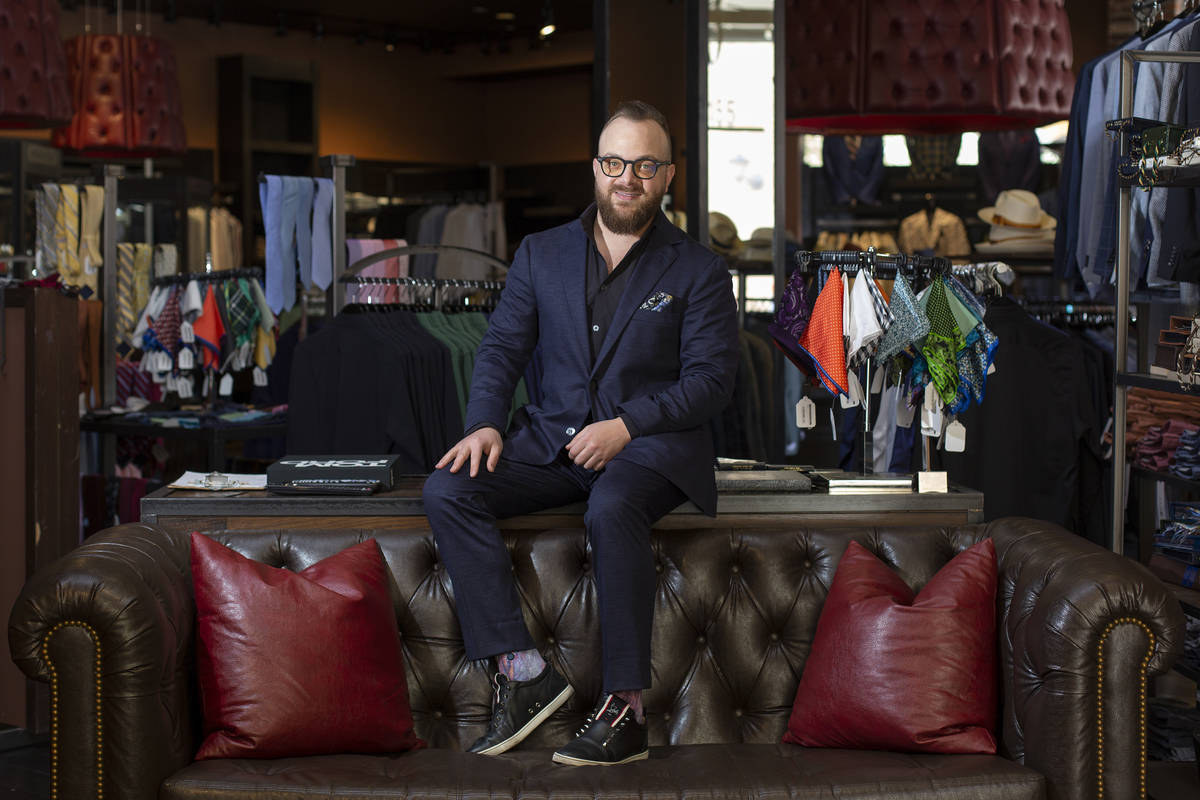 Sam Glaser, senior vice president of Stitched — which sells ready-to-wear and custom suits, f ...