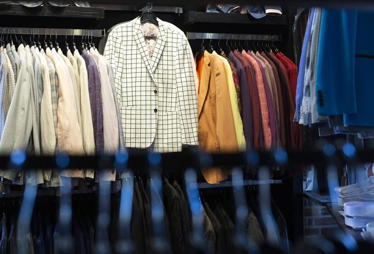 Menswear is on display at the Stitched pop-up store in Tivoli Village. (Ellen Schmidt)