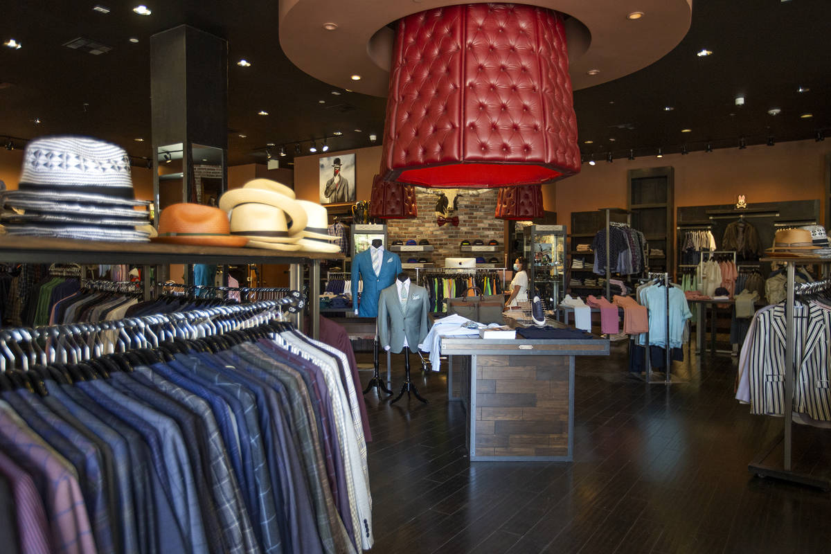 The Stitched pop-up store in Tivoli Village has suits, accessories and shoes for men. (Ellen S ...