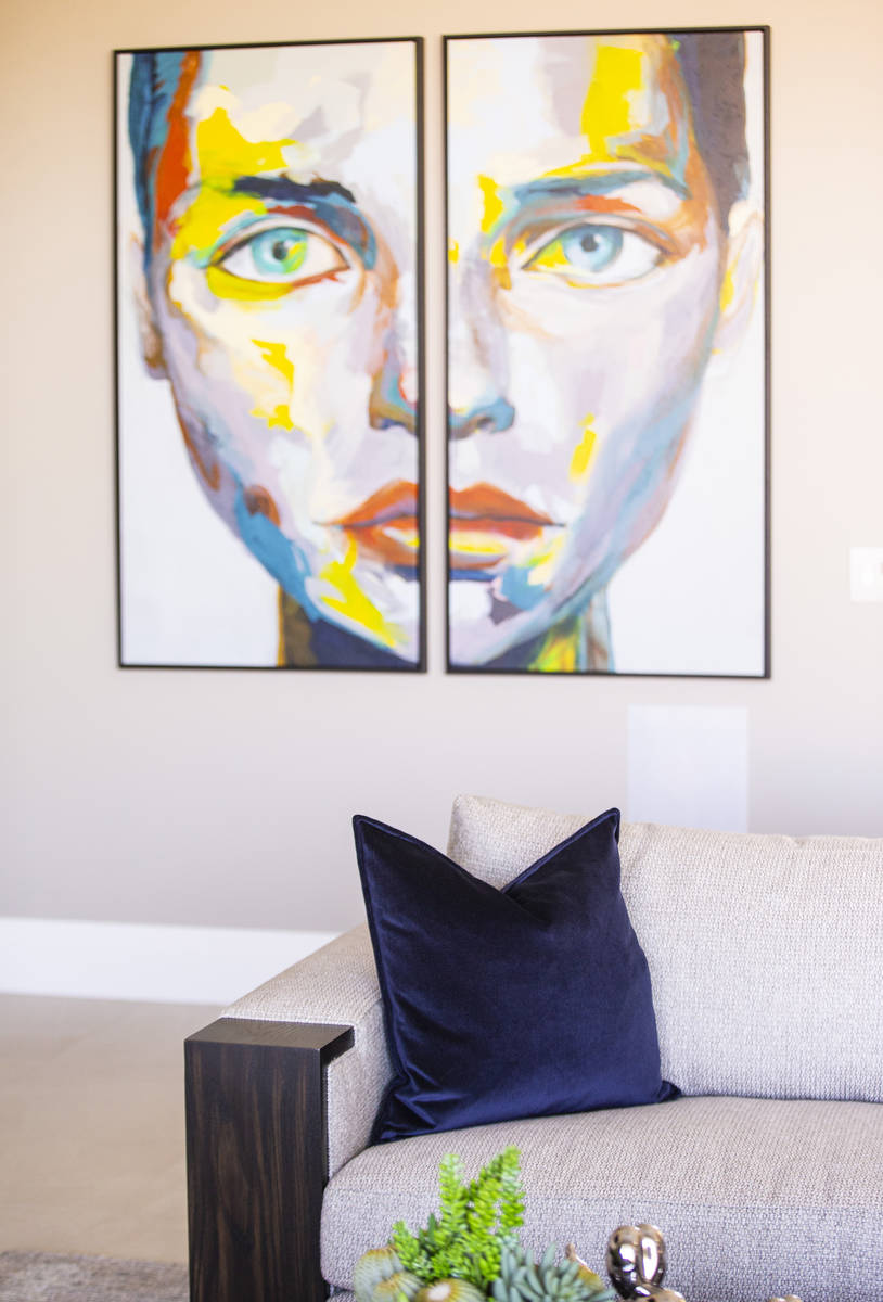 Splashes of color pop in a neutral palette in Nancy and Aris Melonas' Las Vegas home. (Chase ...