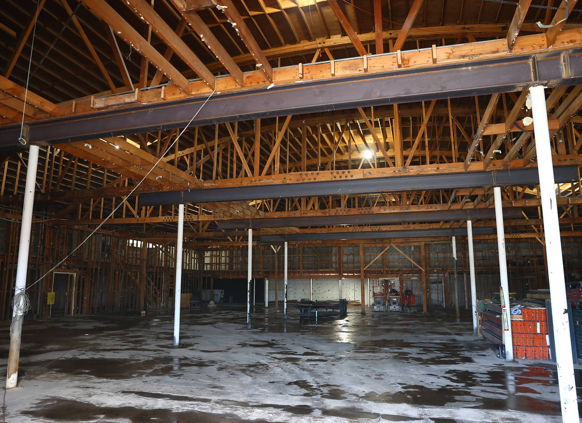The former White Cross Market building at 1700 Las Vegas Blvd. South is under construction for ...