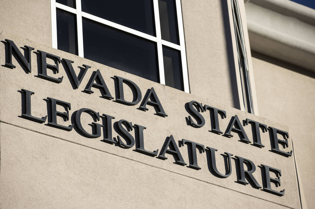 The Nevada State Legislature Building at the state Capitol complex on Sunday, Jan. 17, 2021, in ...