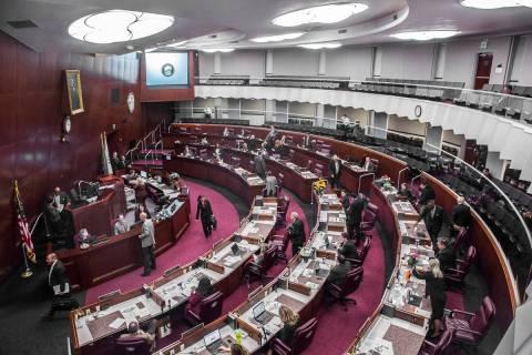 The Legislative in Carson City. (Benjamin Hager/Las Vegas Review-Journal) @benjaminhphoto