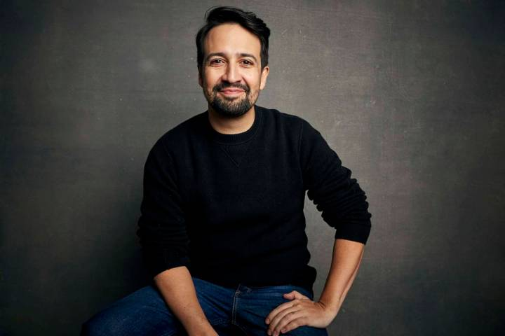 FILE - Lin-Manuel Miranda poses for a portrait during the Sundance Film Festival in Park City, ...