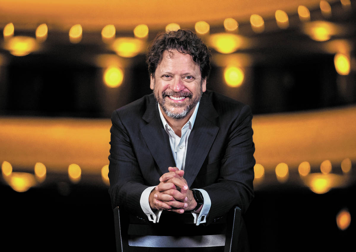 Donato Cabrera, music director of the Las Vegas Philharmonic and California Symphony, on Wednes ...