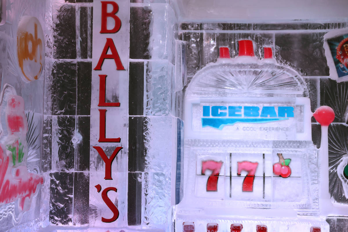 The interior of the Icebar at the LINQ Promenade in Las Vegas, Tuesday, June 8, 2021. (Erik Ver ...