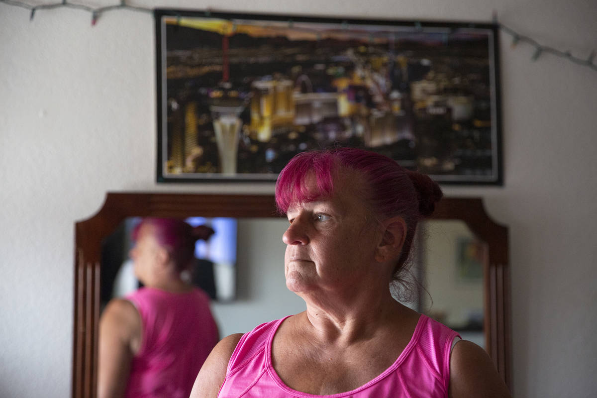 Nancy Williams at her Siegel Suites apartment on Tuesday, June 15, 2021, in Las Vegas. Williams ...