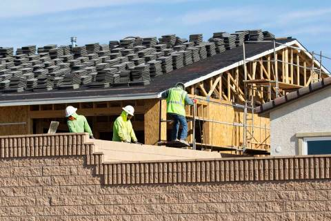 Construction is underway for a new housing community at Sky Canyon, on Friday, April, 9, 2021, ...