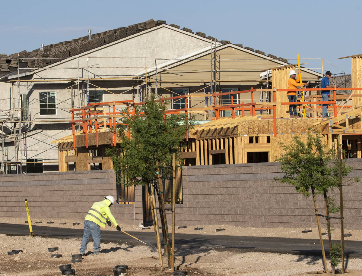 A Lennar housing development near the north side of St. Rose Parkway just west of Starr Avenue ...