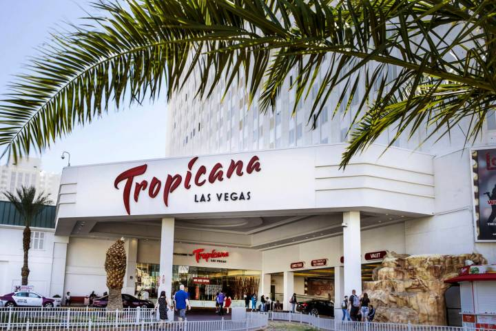 Tropicana is seen in Las Vegas on Tuesday, April 13, 2021. (L.E. Baskow/Las Vegas Review-Journa ...