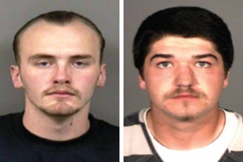 Zachary Foore, left, and Kenneth Frank (Carson City Sheriff's Office)