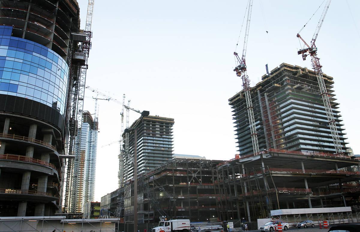 The Cosmopolitan hotel-casino is shown under construction on June 19, 2008, in Las Vegas. (Las ...