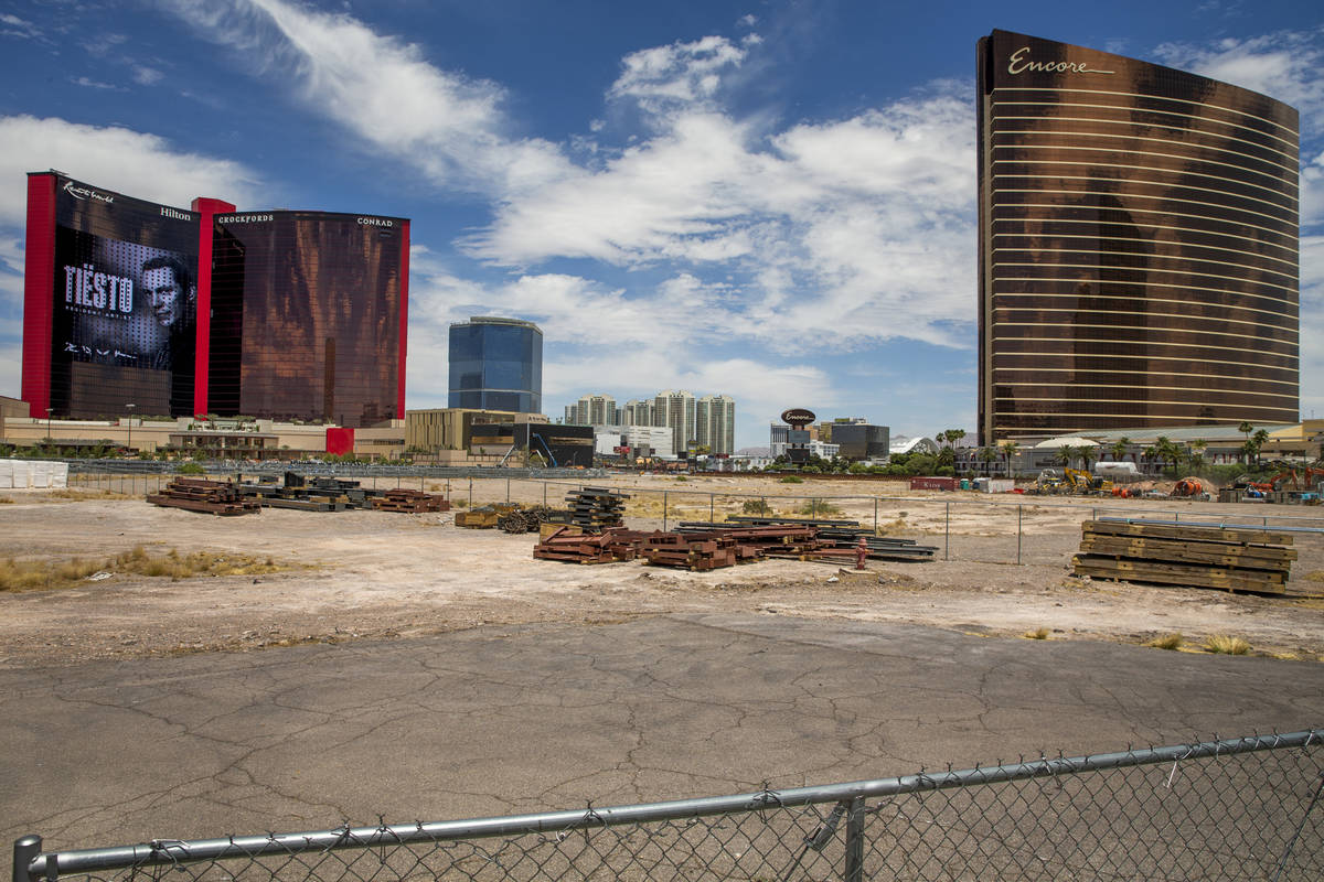Resorts World Las Vegas with nearby properties including the 38 acres of vacant land immediatel ...