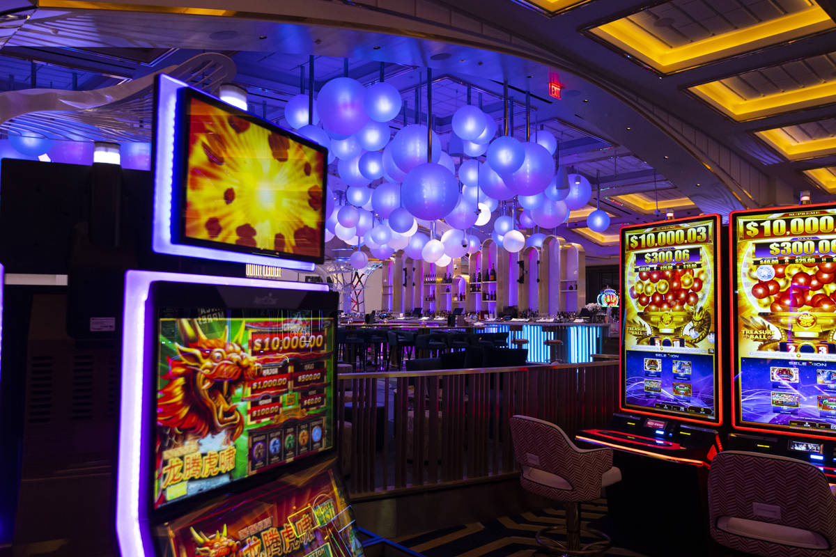 A partial view of Gatsby's cocktail lounge is seen from the casino floor during a tour of Resor ...