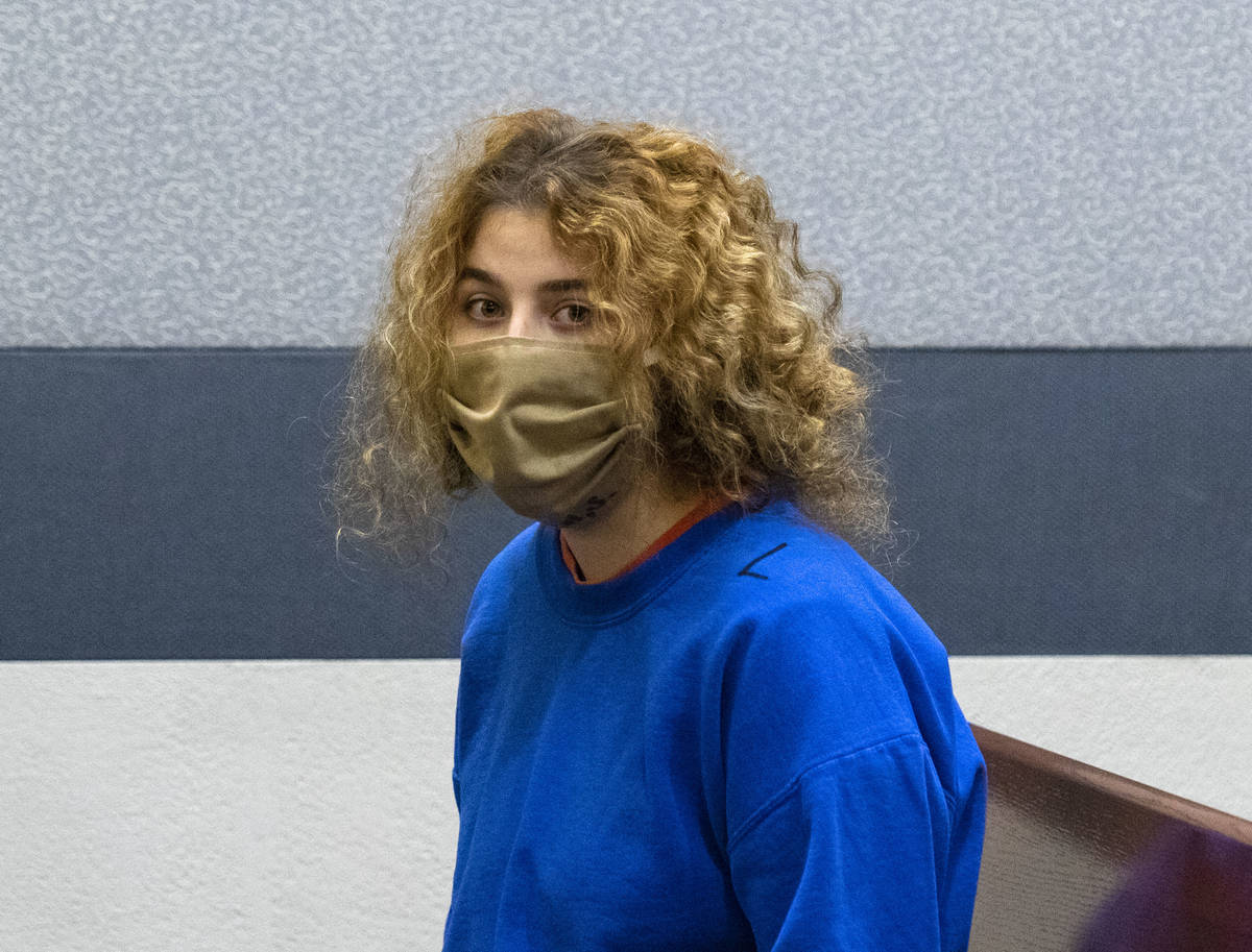 Sierra Halseth, charged in the killing of her father, Daniel Halseth, appears in court at the R ...
