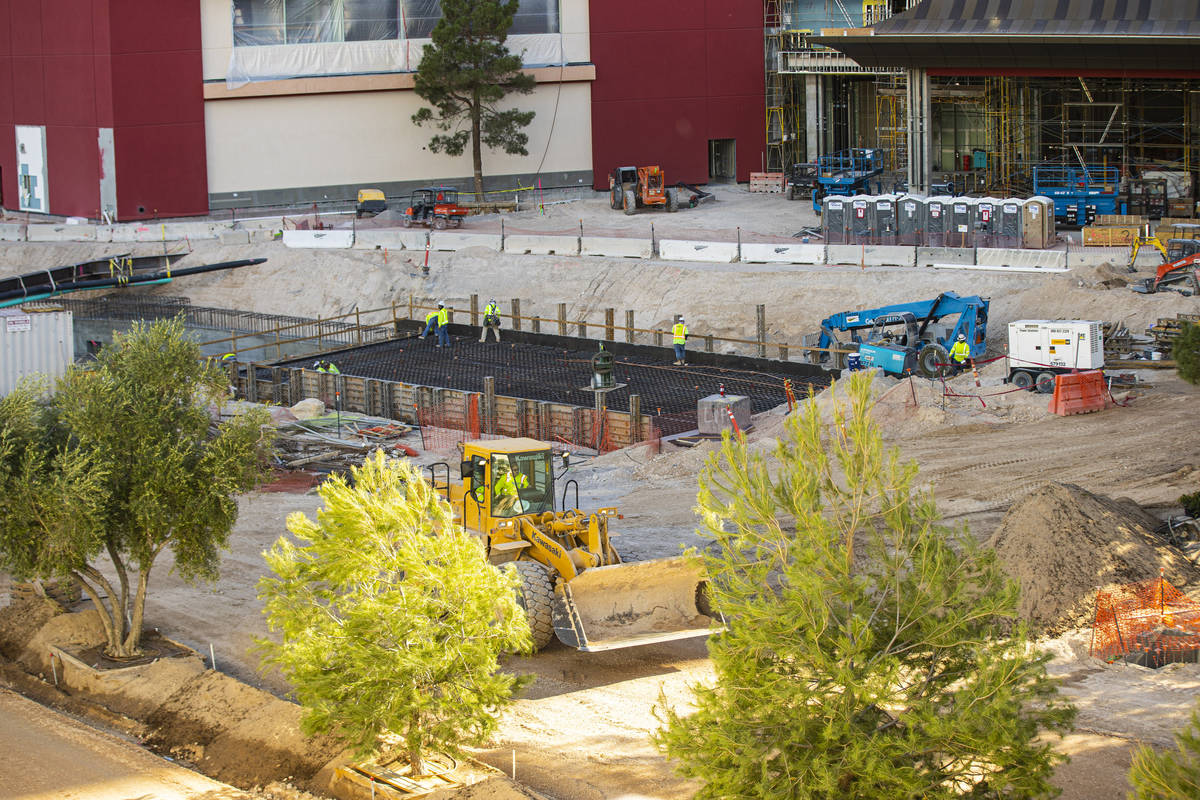Resorts World Las Vegas is seen as construction continues on the property, slated to open in 20 ...