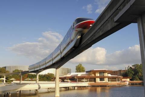 Monorail transiting through Epcot in Walt Disney World, Florida. (Photo by Peter Carroll/Shutte ...