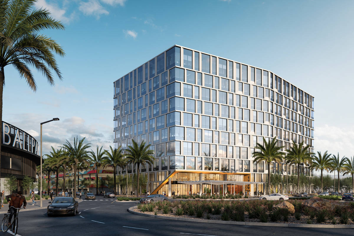 Summerlin developer Howard Hughes Corp. broke ground on an office building, a rendering of whic ...