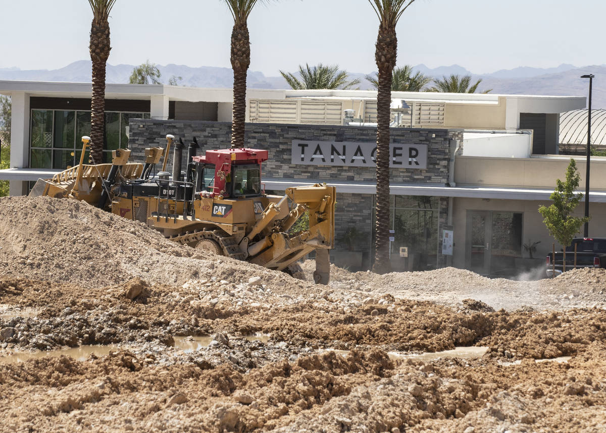 Construction work is now underway next to the Tanager apartment complex at the northeast corner ...