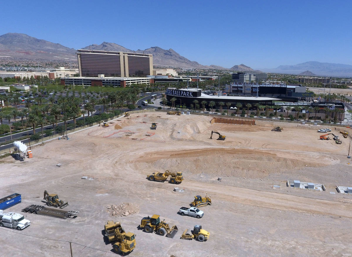 Construction work is now underway on a new office building next to Las Vegas Ballpark and on th ...