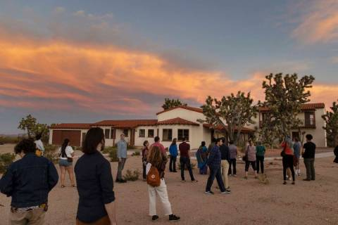 Attendees take a tour of Walking Box Ranch during an event to discuss the importance of creatin ...