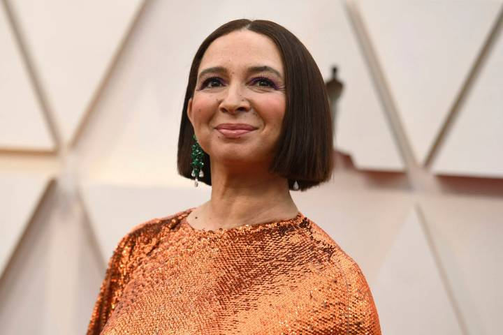 Maya Rudolph arrives at the Oscars on Sunday, Feb. 9, 2020, at the Dolby Theatre in Los Angeles ...