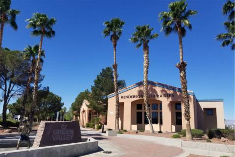 Green Valley Library in Henderson. (Las Vegas Review-Journal)