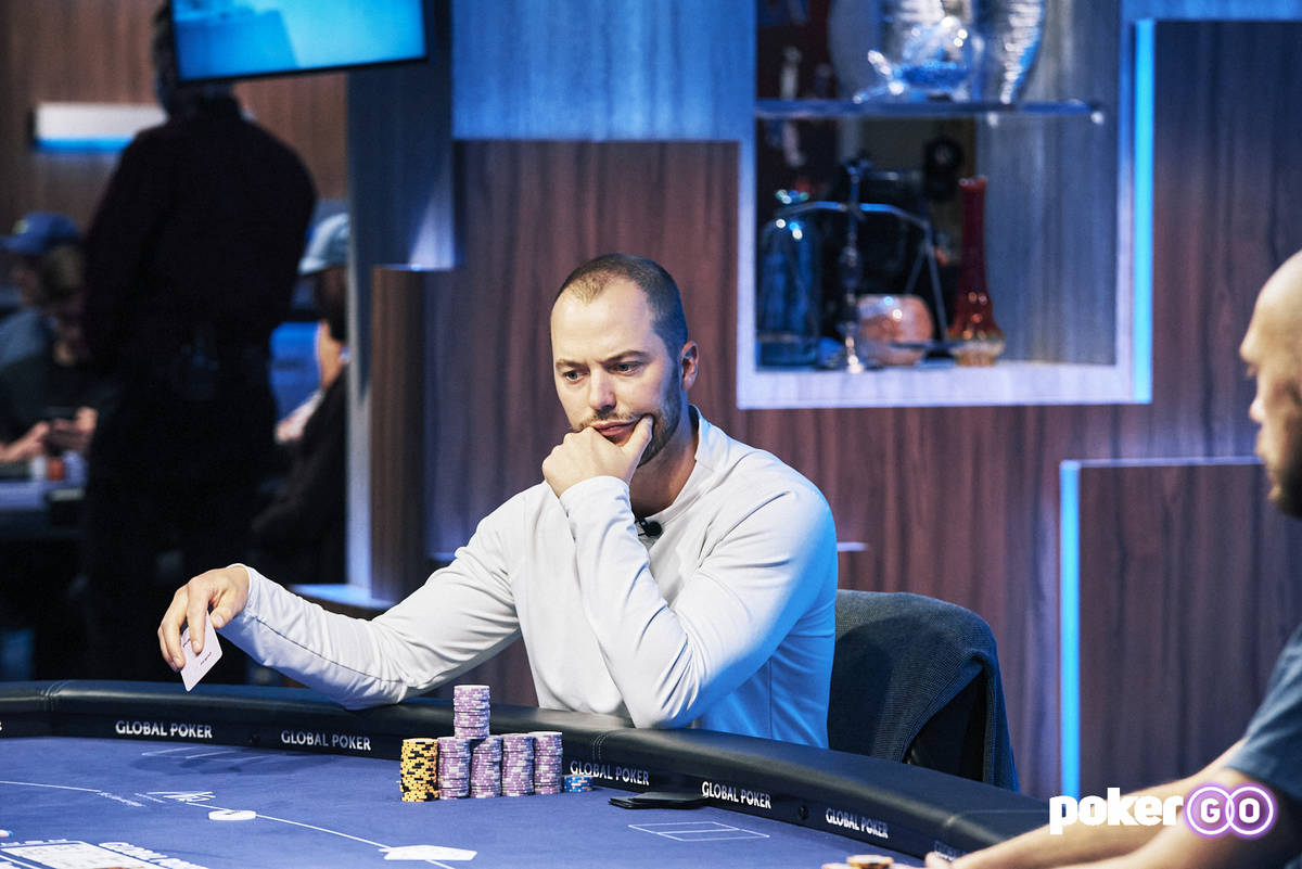 Sean Winter plays heads-up for the $50,000 buy-in No-limit Hold'em event title at the U.S. Poke ...